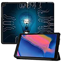 """MAITTAO Touch-screen Case For Samsung Galaxy Tab A 8.0 2019 Release P200 P205, Ultra Slim Folio Cover Stand Tablet Case for Galaxy Tab A with S Pen 8.0"""" 2019 (SM-P200 SM-P205), Creative Bulb 2"""