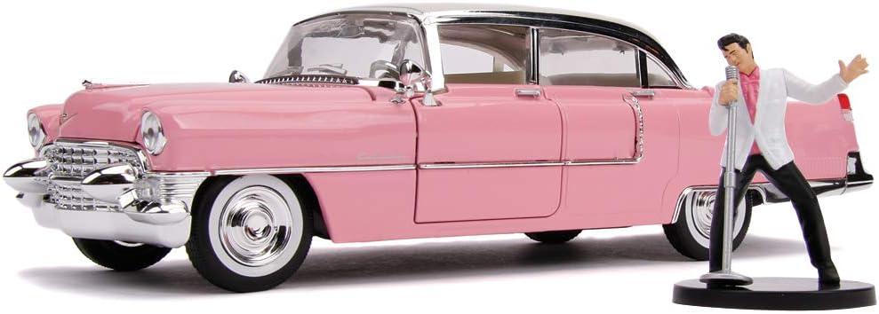 Car celebre cadillac coupe de ville 1955 pink elvis presley feve porcelain