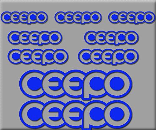 Ecoshirt CT-7D0Z-BNOX Pegatinas Ceepo Contorno R221 Vinilo Adesivi Decal Aufkleber Клей MTB Stickers Bike, Azul