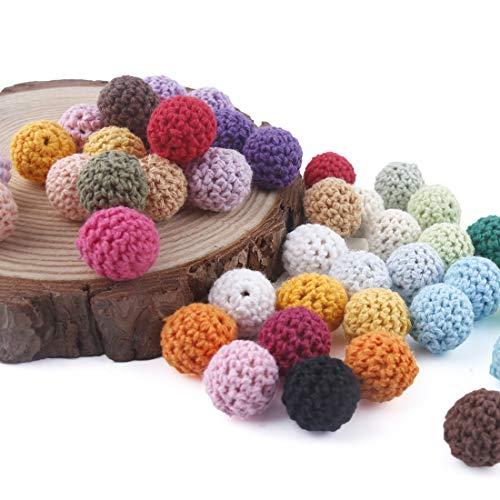 lets make Perlas de Dentici/ón de Silicona Bricolaje Kit de Accesorios de Lactancia Grano de Plumas de Silicona de Color Brillante 100pc Sin BPA Hacer Collar Regalo de Mam/á
