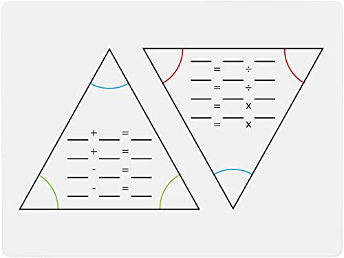 wholesale Dry Erase Board Math Fact Family Triangles for Addition, Subtraction, Multiplication and Division, 9 popular x 12 Inches Whiteboard new arrival for School Classroom or Homeschool Use sale