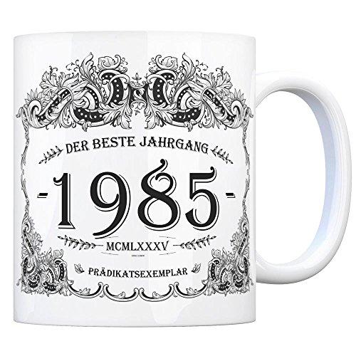 trendaffe - 1985 der Beste Jahrgang Kaffeebecher - EIN tolles Geschenk zum Geburtstag für Wein Liebhaber und alle die im Jahr 1985 geboren sind.