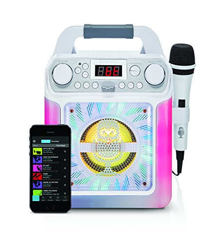 Singing Machine SML650W Bluetooth Karaoke Machine with voice changer and...