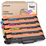 ZIPRINT Compatible Toner Cartridge Replacement for Brother TN227 TN 227 TN227-BK TN223 Toner for Brother MFC-L3770CDW MFC-L3750CDW HL-L3230CDW HL-L3290CDW HL-L3210CW MFC-L3710CW, 5-Pack