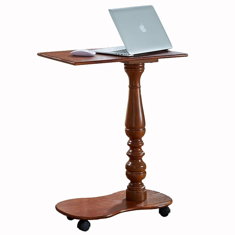 寛容なケント不和取り外し可能なベッドサイドテーブルラップトップ怠zyなテーブルアメリカの木製ホームミニマリストミニベッドルーム小さなテーブル