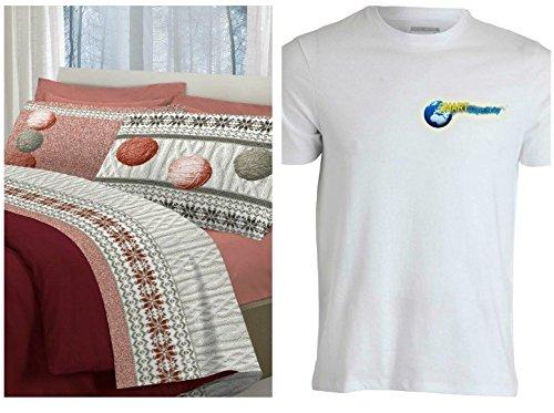 Parure de lit en flanelle pour lit Double pelote pelotes de laine couleur rouge tresse Made en Italy produit de qualité souple flanelle