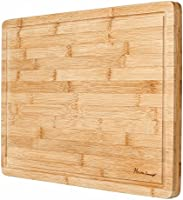 Heim Concept Organic Bamboo Cutting Board for Kitchen Extra Large Chopping Board with Juicy Groove Perfect for Meat,...