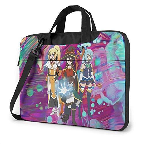 XCNGG KonoSuba Anime Laptop Hombro Messenger Bag Tablet Computadora Almacenamiento Mochila Bolso de Mano 13 Pulgadas