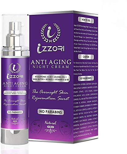 IZZORI Pure Anti Aging Day and Night Cream with Hyaluronic Acid, Retinol, Jojoba Oil, Shea Butter, Vitamin E and B5 (50 gm)