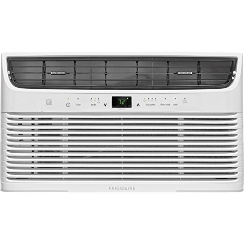 Frigidaire 8,000 BTU 115V Window-Mounted Mini-Compact Temperature-Sensing Remote Control, White Air Conditioner