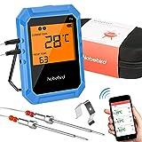 Nobebird Termometro per Carne Wireless, termometro da Cucina Bluetooth con 2 sonde in Acci...
