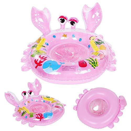 PLLO Baby-Schwimmring, entzückender umweltfreundlicher langlebiger Schwimmring, niedliche Cartoon-Tierform für Baby-Säugling(Pink)