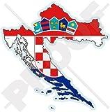 KROATIEN Kroatische Karte Flagge HRVATSKA 120mm Auto & Motorrad Aufkleber, Vinyl Sticker