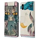 Head Case Designs Offiziell Zugelassen Wyanne Das Licht des Mondes Katzen Leder Brieftaschen Handyhülle Hülle Huelle kompatibel mit Apple iPhone XS Max