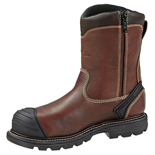 "Thorogood 804-4440Men's Gen-flex28"" Insulated Waterproof Composite Safety Toe Boot, Brown Side Zip - 10.5 D(M) US"