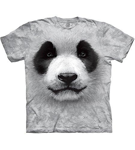 The Mountain Unisexe Adulte Tete De Panda T Shirt, grau, Small