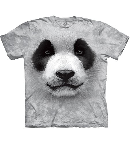 The Mountain Unisexe Adulte Tete De Panda T Shirt, grau, Small