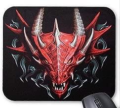 Precision seam,durable gaming mouse pad,Mousepad Chinese Dragon Vampire Skull Back Print Pattern Mouse Mat