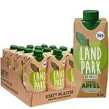 Landpark Bio-Erfrischungsgetränk Sanfter Apfel, 12 x 0,5 L im Tetra Pak   natürliches Mineralwasser aus Bio-Quelle mit Apfelgeschmack   ohne Kohlensäure   To Go   Wasser mit Geschmack   pfandfrei