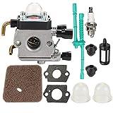 Nirmon Carburador con Kit de Ajuste para Fs38 Fs45 Fs46 Fs55 Km55 Hl45 Fs45L Fs45C Fs46C Fs55C Fs55Rc Recortadora de Hilo Cortacésped 4140 120 0612
