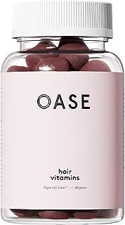 Oase Hair Vitamins - Vegan Gumps for Growth and Against Hair Loss - With Biotin, Zinc, Iodine, Folic Acid, Selenium and Ba...