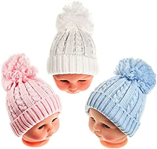 BABY ANKLE SOCKS POM POM BOBBLE UNISEX BOYS GIRLS WHITE PINK BLUE CLOTHING NEW