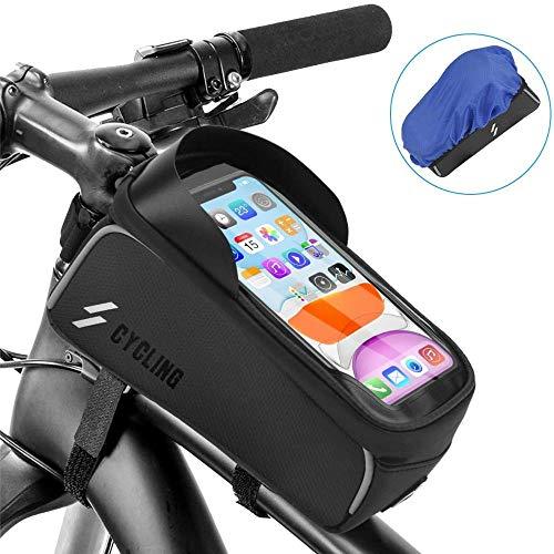GYWL - Bolsa portabicicletas con pantalla táctil, gran capacidad impermeable y resistente a los golpes, apto para iPhone de menos de 6,1 pulgadas, Samsung y otros teléfonos móviles