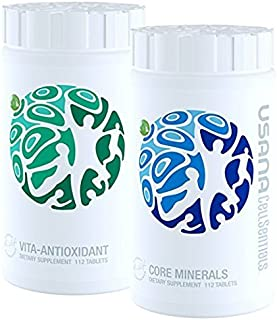 Usana CellSentials - With Usana InCelligence Technology Certified by OK Kosher-Vita-Antioxidant & Core Minerals, 112 Tablets Each