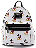 Loungefly Disney Mickey Mouse All Over Print Womens Double Strap Shoulder Bag Purse