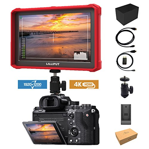 Rode Lilliput A7s-2 7-inch 1920x1200 HD IPS Scherm 500cd/m2 Camera Field Monitor 4K HDMI Input output Video Voor DSLR Mirrorless Camera SONY A7 A7R A7S III A9 A6500 Panasonic GH5 GH5x Canon 5D Mark IV 7D 70D NIKON D800 D810 DJI Ronin M