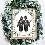 Custom Best Friend Gift Print, Personalized Best Friend Print, Best Friend Gifts for Women, 8x10' Art Print (UNFRAMED)