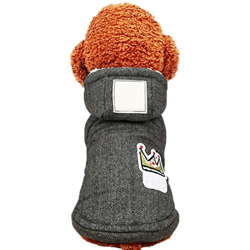 Etophigh huisdier-hondenwinter-warmer hoodie-mantel-puppy verdikte comfortabele jas-hondenkleding, Medium