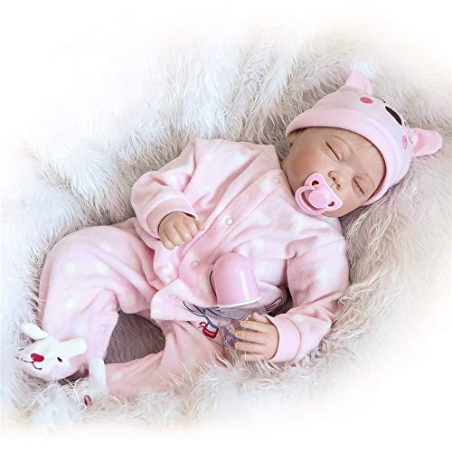 Boneca Reborn Baby Doll Menino Silicone Macio Vinil Real Life Like Reborn Boneca Bebê Bebê Realista Presente de Chupeta Magnética