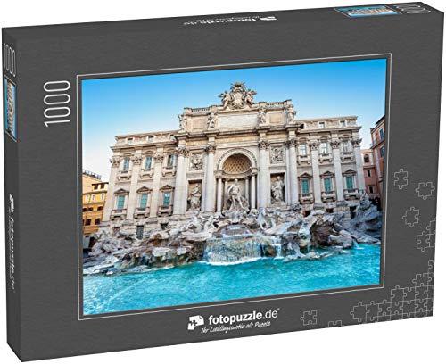 fotopuzzle.de Puzzle 1000 Teile Trevi-Brunnen am Morgen, Rom, Italien Rom Barockarchitektur und Wahrzeichen (1000, 200 oder 2000 Teile)