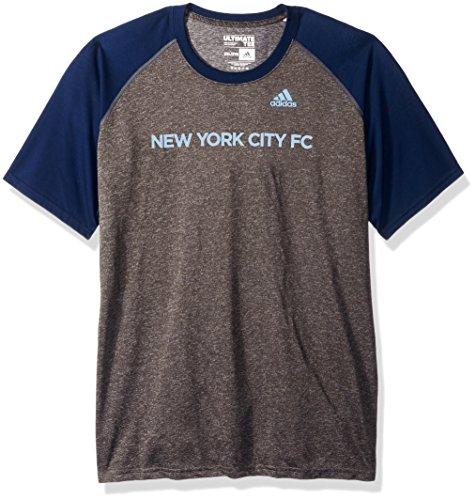 adidas Half Time Ultimate Raglan S/S Camiseta para Hombre, Gris Oscuro, Talla Grande