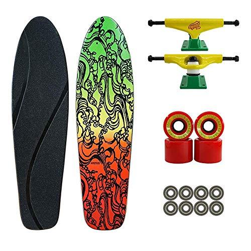 Taoke Skateboard, 23x6.2x4.3inch 7 Couches d'érable Adapté for Les Adolescents, garçons et Filles, Street Skateboard débutants (Couleur: C) dongdong (Color : B)