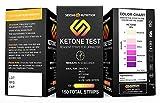 Keto Strips - Senshi Ketone Strips - Keto Test Strips - Quick & Easy Ketone Testing Strips, Read Fat Burning Ketone Level with Ease During Keto, Low-Carb and Paleo Diets (150 Strips)