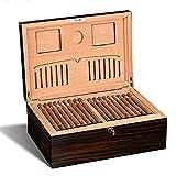 Cigars Cave À Cigares Boîte De Rangement en Bois De Cèdre Cave À Cigares De Grande Capacité...