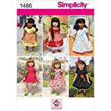 Simplicity 1486 Vintage Doll Clothes and Dress Sewing Patterns for 18'' Dolls