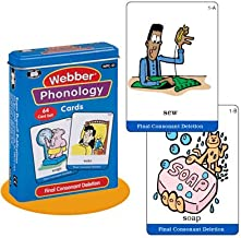 Super Duper Publications Webber Illustrated Phonology Final Consonant Deletion Minimal Pair Card Deck Educational Learning Resource for Children