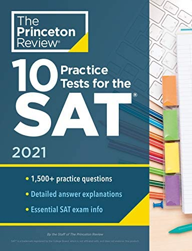 10 Practice Tests for the SAT 2021 Extra Prep to Help Achieve an Excellent Score College Test product image