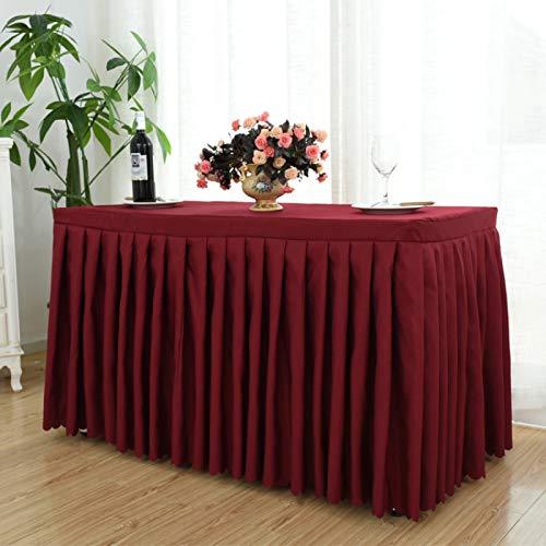 DJUX Paño de Mesa de Conferencia Hotel Conferencia y exposición Cubierta de Mesa de Color sólido Mantel Largo Mantel de Actividad Mantel 60 * 120 * 75 cm