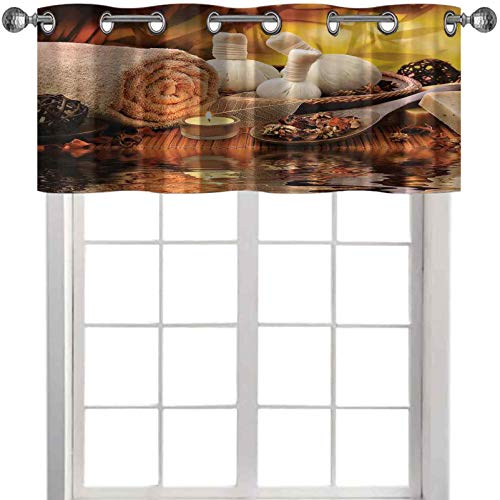 kitchen window valance Outdoor Spa Massage Setting at Sunset with Candlelight Reflections Culture 36'W x 18'L curtain valances for windows