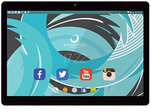 Brigmton BTPC-1019QC-B, Tableta de 10' (Allwinner A33 Quad Core 1.5 GHz, disco duro de 16 GB, 1 GB de RAM, WiFi, Android 6.0), blanco