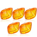 cciyu Cab Marker Light 5x Amber Top Clearance Roof Running Lens/Covers Automotive Cab Marker Assembly Replacement fit for 1999-2016 Ford F250 F350 F450,04-18 Chevrolet Silverado 1500 2500 3500