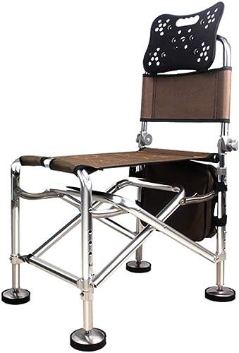 Chaise De Pêche Multi-Fonction Pliable Chaise Extérieure Portable Fournitures De Siège De Pêche Dossier Réglable Charge-roulement 100kg (Couleur   H, Taille   35  55  89cm)