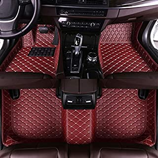 Leather Floor Mats Fit for 2013-2017 Audi SQ5 Full Protection Car Accessories Wine Red 3 Piece Set