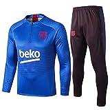 L-YIN Tire Jersey Suit Football Club Training deportes al aire libre de los hombres de la mitad (Tops + Pants) - AG0215 Chándales (Color : Blue, Size : XL)