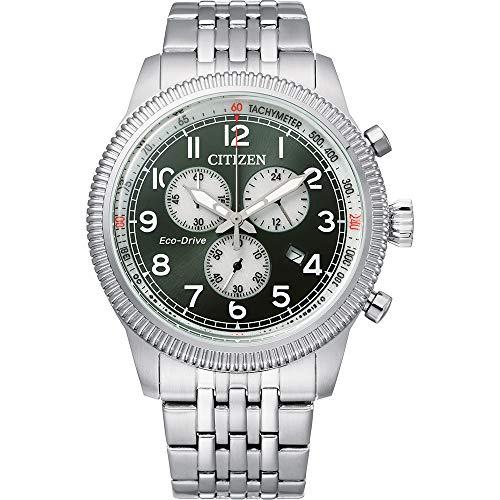 Citizen Reloj Analógico para Hombre de con Correa en Acero Inoxidable AT2460-89X