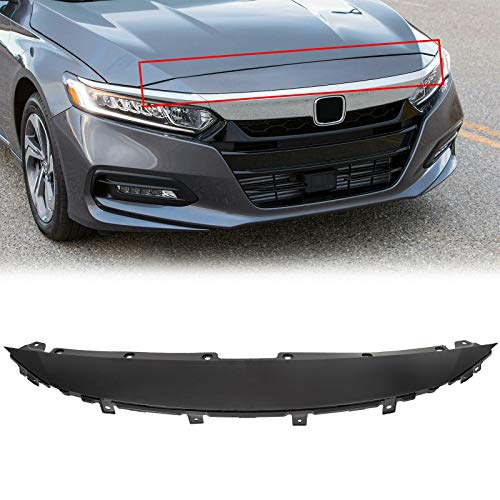 ECOTRIC Front Upper Cover Grille Black Compatible with 2018 2019 Honda Accord Sedan - Replace For HO1210155 71105TVAA00ZZ